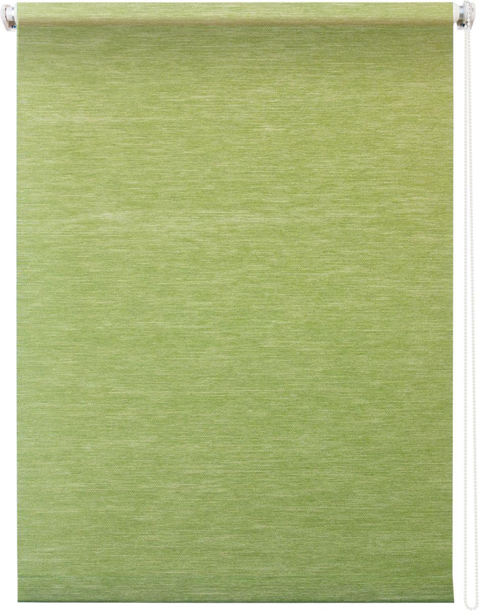 Штора рулонная Уют Концепт, цвет: зеленый, 140 х 175 см1004900000360Штора рулонная Уют Концепт выполнена из прочного полиэстера с обработкой специальным составом, отталкивающим пыль. Ткань не выцветает, обладает отличной цветоустойчивостью и светонепроницаемостью.Штора закрывает не весь оконный проем, а непосредственно само стекло и может фиксироваться в любом положении. Она быстро убирается и надежно защищает от посторонних взглядов. Компактность помогает сэкономить пространство. Универсальная конструкция позволяет крепить штору на раму без сверления, также можно монтировать на стену, потолок, створки, в проем, ниши, на деревянные или пластиковые рамы. В комплект входят регулируемые установочные кронштейны и набор для боковой фиксации шторы. Возможна установка с управлением цепочкой как справа, так и слева. Изделие при желании можно самостоятельно уменьшить. Такая штора станет прекрасным элементом декора окна и гармонично впишется в интерьер любого помещения.
