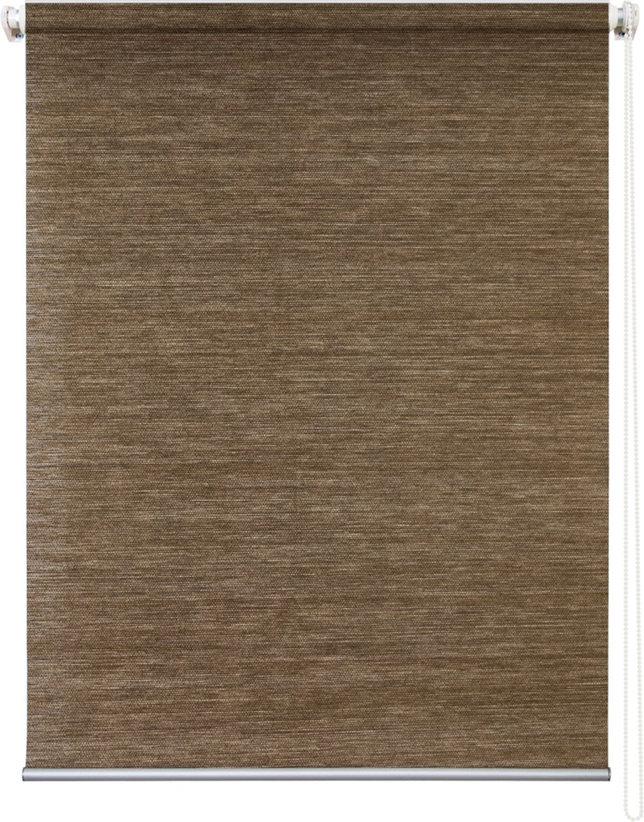 Штора рулонная Уют Концепт, цвет: коричневый, 140 х 175 см531-401Штора рулонная Уют Концепт выполнена из прочного полиэстера с обработкой специальным составом, отталкивающим пыль. Ткань не выцветает, обладает отличной цветоустойчивостью и светонепроницаемостью.Штора закрывает не весь оконный проем, а непосредственно само стекло и может фиксироваться в любом положении. Она быстро убирается и надежно защищает от посторонних взглядов. Компактность помогает сэкономить пространство. Универсальная конструкция позволяет крепить штору на раму без сверления, также можно монтировать на стену, потолок, створки, в проем, ниши, на деревянные или пластиковые рамы. В комплект входят регулируемые установочные кронштейны и набор для боковой фиксации шторы. Возможна установка с управлением цепочкой как справа, так и слева. Изделие при желании можно самостоятельно уменьшить. Такая штора станет прекрасным элементом декора окна и гармонично впишется в интерьер любого помещения.