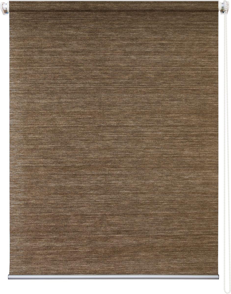 Штора рулонная Уют Концепт, цвет: коричневый, 90 х 175 смMW-3101Штора рулонная Уют Концепт выполнена из прочного полиэстера с обработкой специальным составом, отталкивающим пыль. Ткань не выцветает, обладает отличной цветоустойчивостью и светонепроницаемостью.Штора закрывает не весь оконный проем, а непосредственно само стекло и может фиксироваться в любом положении. Она быстро убирается и надежно защищает от посторонних взглядов. Компактность помогает сэкономить пространство. Универсальная конструкция позволяет крепить штору на раму без сверления, также можно монтировать на стену, потолок, створки, в проем, ниши, на деревянные или пластиковые рамы. В комплект входят регулируемые установочные кронштейны и набор для боковой фиксации шторы. Возможна установка с управлением цепочкой как справа, так и слева. Изделие при желании можно самостоятельно уменьшить. Такая штора станет прекрасным элементом декора окна и гармонично впишется в интерьер любого помещения.