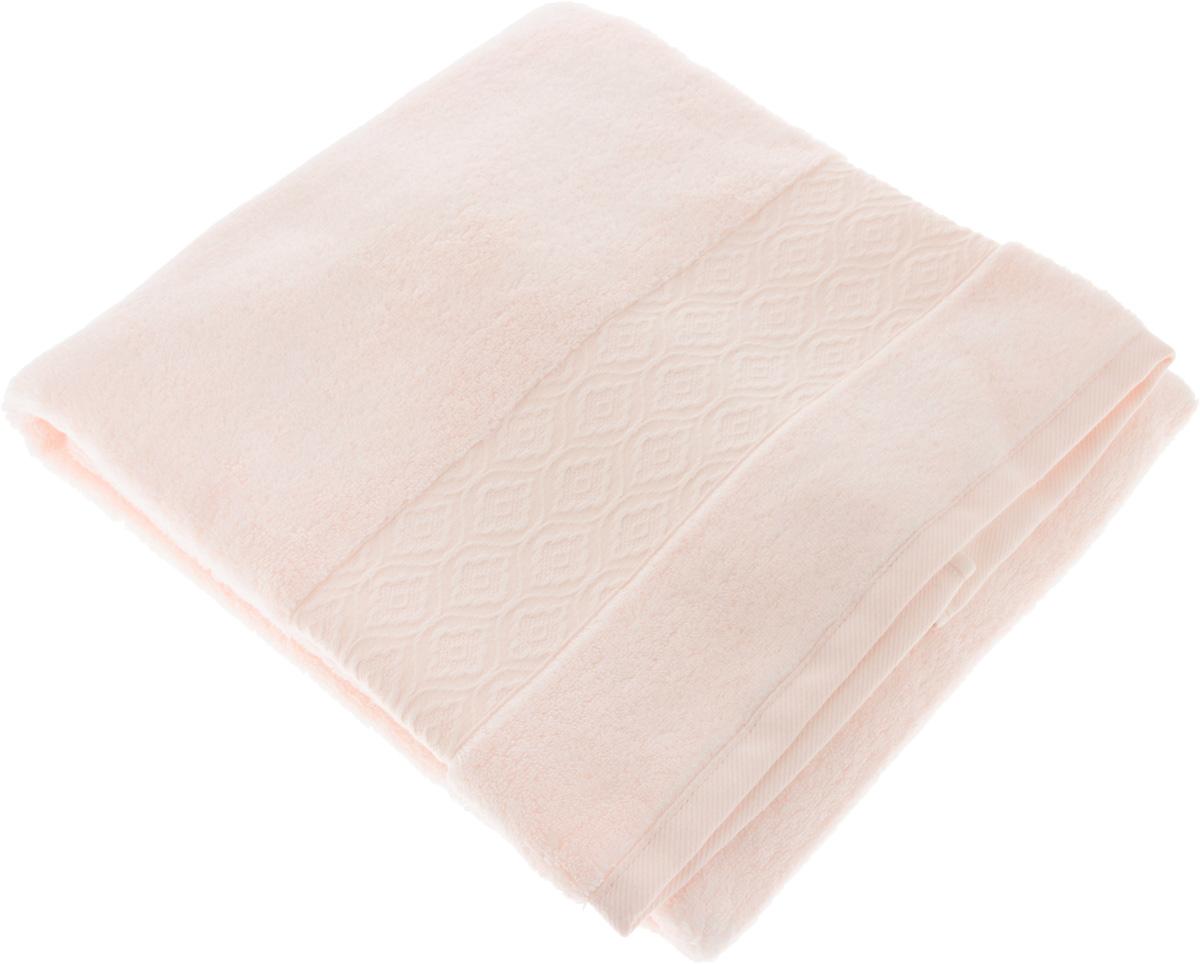 Полотенце Issimo Home Delphine, цвет: розовый, 70 x 140 смCLP446Полотенце Issimo Home Delphine выполнено из модала и хлопка. Такое полотенце обладает уникальными свойствами и характеристиками. Необычайная мягкость модала и шелковистый блеск делают изделие приятными на ощупь и практичными в использовании. Моментально впитывает влагу, сохраняет невесомость даже в мокром виде, быстро сохнет. Полотенце декорировано жаккардовым узором.