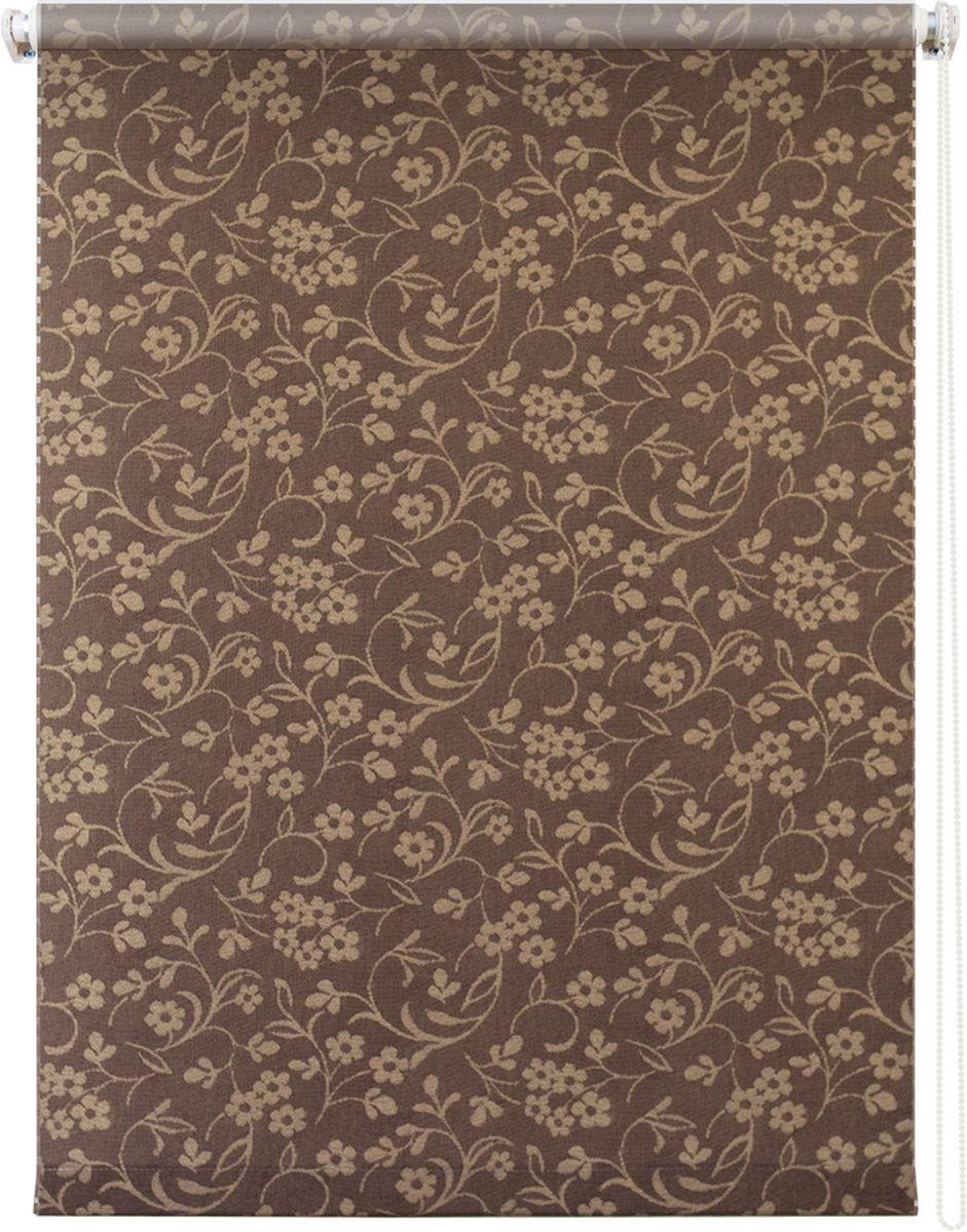 Штора рулонная Уют Моравия, цвет: коричневый, 120 х 175 см62.РШТО.8805.080х175• Защита от посторонних взглядов.• Фиксация в любом положении.• Крепеж: Универсальный (к потолку, к раме, к стене).