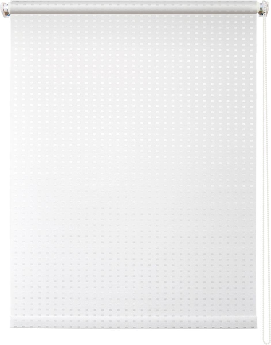 Штора рулонная Уют Плаза, цвет: белый, 80 х 175 см62.РШТО.7653.080х175Штора рулонная Уют Плаза выполнена из прочного полиэстера с обработкой специальным составом, отталкивающим пыль. Ткань не выцветает, обладает отличной цветоустойчивостью и хорошей светонепроницаемостью. Изделие имеет оригинальный дизайн, отлично подойдет для спальни, кухни, гостиной, а также офиса или кабинета. Штора закрывает не весь оконный проем, а непосредственно само стекло и может фиксироваться в любом положении. Она быстро убирается и надежно защищает от посторонних взглядов. Компактность помогает сэкономить пространство. Универсальная конструкция позволяет крепить штору на раму без сверления, также можно монтировать на стену, потолок, створки, в проем, ниши, на деревянные или пластиковые рамы. В комплект входят регулируемые установочные кронштейны и набор для боковой фиксации шторы. Возможна установка с управлением цепочкой как справа, так и слева. Изделие при желании можно самостоятельно уменьшить. Такая штора станет прекрасным элементом декора окна и гармонично впишется в интерьер любого помещения.Светопроницаемость: 10-30%.