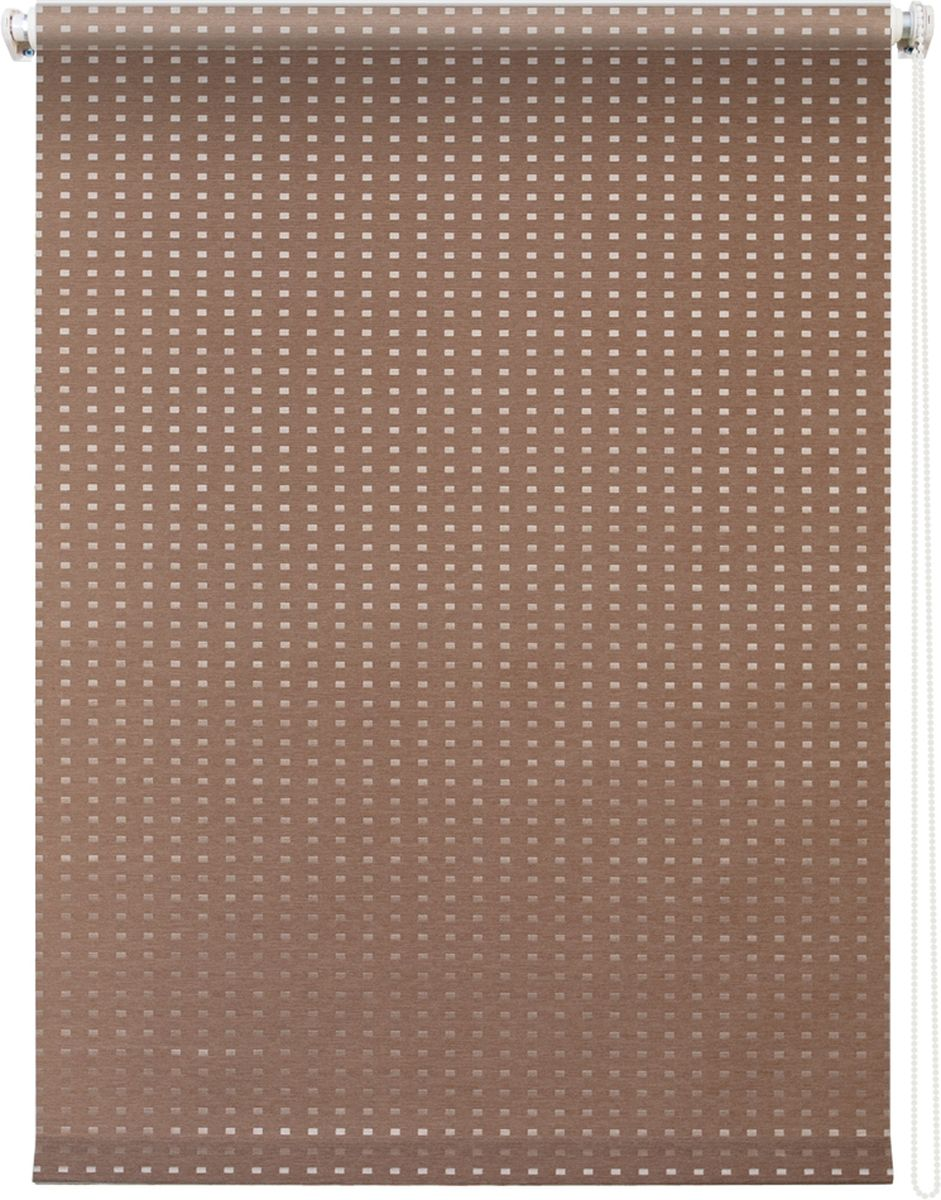 Штора рулонная Уют Плаза, цвет: коричневый, 100 х 175 см62.РШТО.7521.140х175• Защита от посторонних взглядов.• Фиксация в любом положении.• Крепеж: Универсальный (к потолку, к раме, к стене).