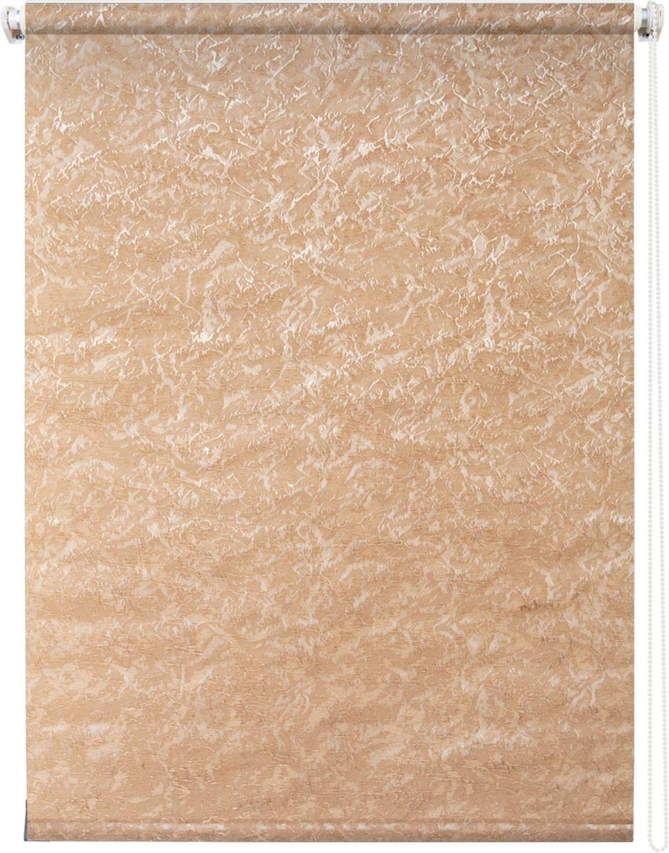 Штора рулонная Уют Фрост, цвет: коричневый, 50 х 175 см1004900000360Штора рулонная Уют Фрост выполнена из прочного полиэстера с обработкой специальным составом, отталкивающим пыль. Ткань не выцветает, обладает отличной цветоустойчивостью и светонепроницаемостью.Штора закрывает не весь оконный проем, а непосредственно само стекло и может фиксироваться в любом положении. Она быстро убирается и надежно защищает от посторонних взглядов. Компактность помогает сэкономить пространство. Универсальная конструкция позволяет крепить штору на раму без сверления, также можно монтировать на стену, потолок, створки, в проем, ниши, на деревянные или пластиковые рамы. В комплект входят регулируемые установочные кронштейны и набор для боковой фиксации шторы. Возможна установка с управлением цепочкой как справа, так и слева. Изделие при желании можно самостоятельно уменьшить. Такая штора станет прекрасным элементом декора окна и гармонично впишется в интерьер любого помещения.