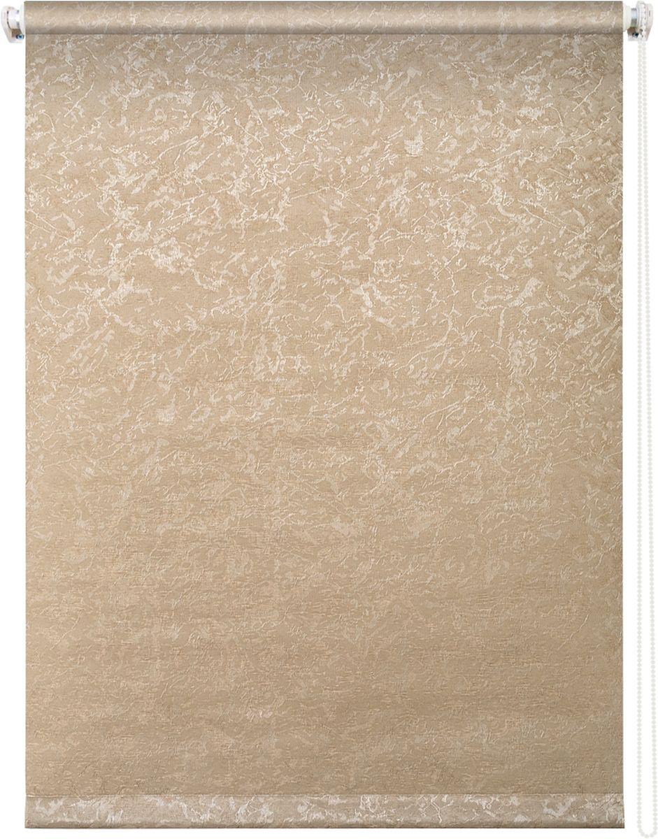 Штора рулонная Уют Фрост, цвет: латте, 50 х 175 см238000Штора рулонная Уют Фрост выполнена из прочного полиэстера с обработкой специальным составом, отталкивающим пыль. Ткань не выцветает, обладает отличной цветоустойчивостью и светонепроницаемостью.Штора закрывает не весь оконный проем, а непосредственно само стекло и может фиксироваться в любом положении. Она быстро убирается и надежно защищает от посторонних взглядов. Компактность помогает сэкономить пространство. Универсальная конструкция позволяет крепить штору на раму без сверления, также можно монтировать на стену, потолок, створки, в проем, ниши, на деревянные или пластиковые рамы. В комплект входят регулируемые установочные кронштейны и набор для боковой фиксации шторы. Возможна установка с управлением цепочкой как справа, так и слева. Изделие при желании можно самостоятельно уменьшить. Такая штора станет прекрасным элементом декора окна и гармонично впишется в интерьер любого помещения.