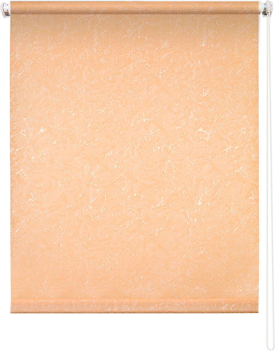 Штора рулонная Уют Фрост, цвет: персиковый, 60 х 175 см1004900000360Штора рулонная Уют Фрост выполнена из прочного полиэстера с обработкой специальным составом, отталкивающим пыль. Ткань не выцветает, обладает отличной цветоустойчивостью и светонепроницаемостью.Штора закрывает не весь оконный проем, а непосредственно само стекло и может фиксироваться в любом положении. Она быстро убирается и надежно защищает от посторонних взглядов. Компактность помогает сэкономить пространство. Универсальная конструкция позволяет крепить штору на раму без сверления, также можно монтировать на стену, потолок, створки, в проем, ниши, на деревянные или пластиковые рамы. В комплект входят регулируемые установочные кронштейны и набор для боковой фиксации шторы. Возможна установка с управлением цепочкой как справа, так и слева. Изделие при желании можно самостоятельно уменьшить. Такая штора станет прекрасным элементом декора окна и гармонично впишется в интерьер любого помещения.