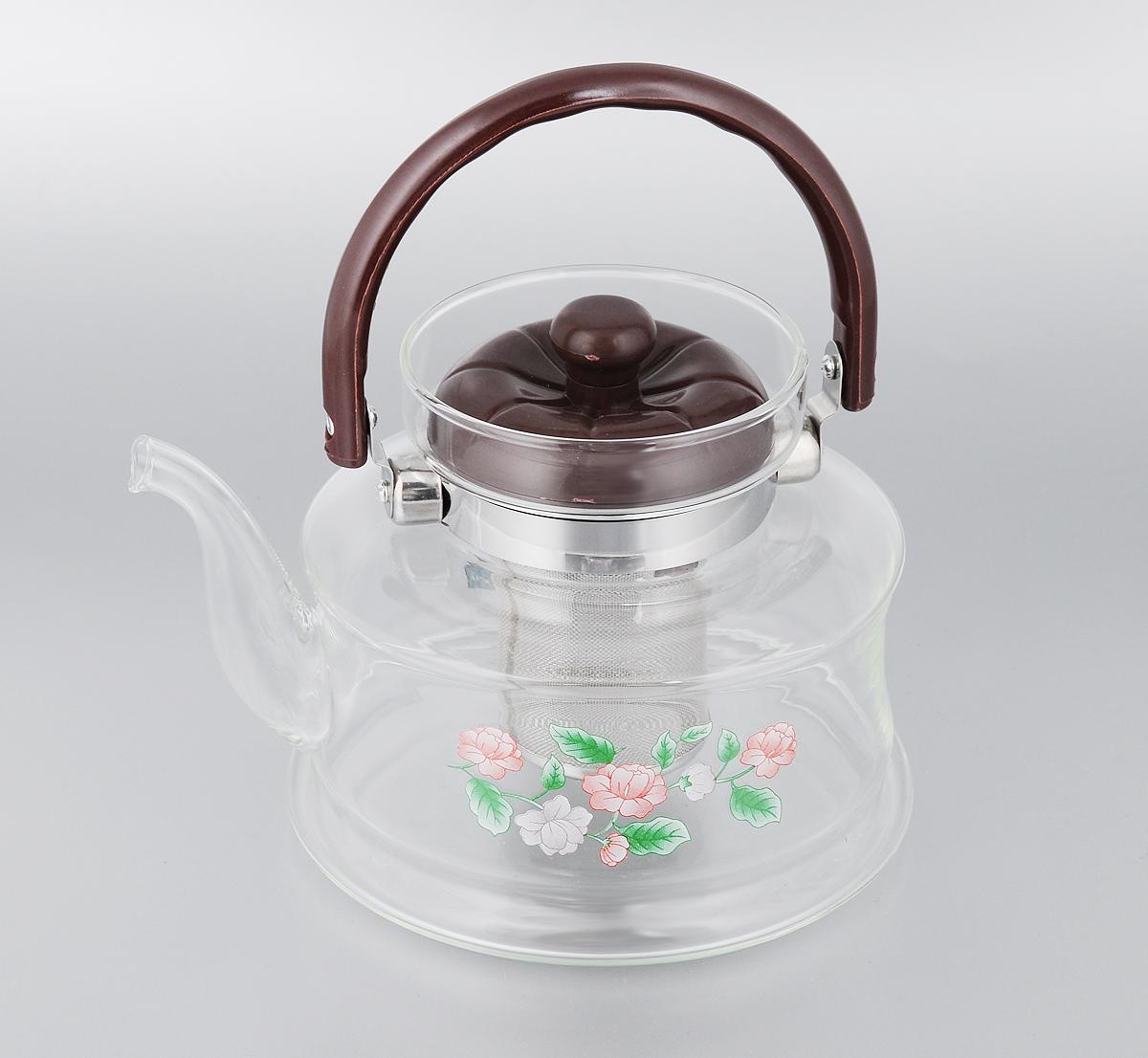 Чайник заварочный Mayer & Boch, с фильтром, 1,4 л. 259168/5/3Заварочный чайник Mayer & Boch, выполненный из термостойкого стекла, предоставит вам все необходимые возможности для успешного заваривания чая. Изделие оснащено бакелитовой ручкой, крышкой и сетчатым фильтром из нержавеющей стали, который задерживает чаинки и предотвращает их попадание в чашку. Чай в таком чайнике дольше остается горячим, а полезные и ароматические вещества полностью сохраняются в напитке. Эстетичный и функциональный чайник будет оригинально смотреться в любом интерьере.Диаметр чайника (по верхнему краю): 9,5 см. Высота чайника (с учетом ручки и крышки): 19 см. Высота чайника (без учета ручки и крышки): 13 см. Высота фильтра: 7,5 см.