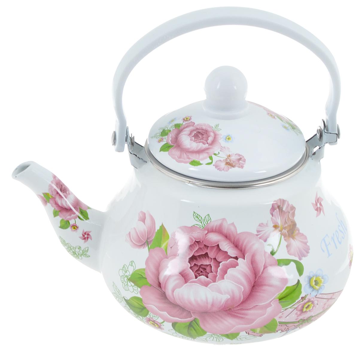 Чайник заварочный Mayer & Boch Роза, 1,5 л. 23987115510Заварочный чайник Mayer & Boch Роза изготовлен из высококачественной углеродистой стали с эмалированным покрытием. Такое покрытие защищает сталь от коррозии, придает посуде гладкую стекловидную поверхность и надежно защищает от кислот и щелочей. Изделие прекрасно подходит для заваривания вкусного и ароматного чая, травяных настоев. Чайник оснащен сетчатым фильтром, который задерживает чаинки и предотвращает их попадание в чашку. Оригинальный дизайн сделает чайник настоящим украшением стола. Он удобен в использовании и понравится каждому. Подходит для использования на газовых, стеклокерамических, электрических, галогеновых и индукционных плитах. Можно мыть в посудомоечной машине. Диаметр чайника (по верхнему краю): 9,8 см. Высота чайника (без учета крышки): 10,7 см.Толщина стенок: 0,8 мм.