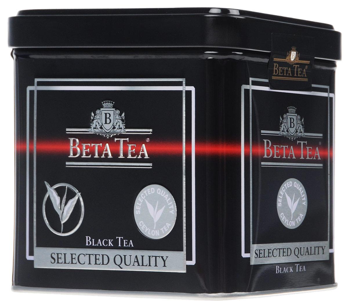 Beta Tea Отборное качество черный листовой чай, 100 г (жестяная банка)1145-12Этот сорт чая поставляют лучшие чайные плантации Шри-Ланки. Любители крепкого чая с терпким вкусом по достоинству оценят Beta Tea Отборное качество.