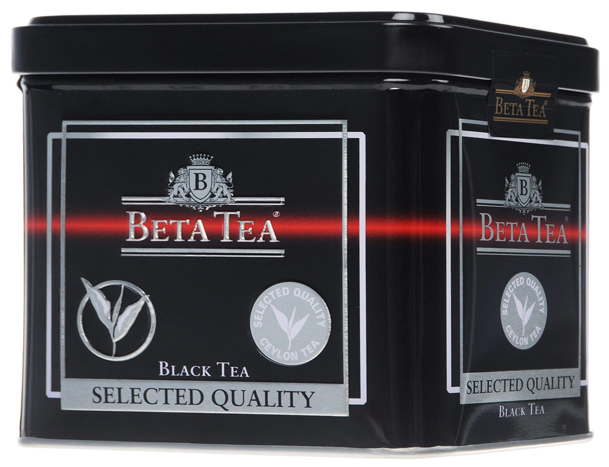 Beta Tea Отборное качество черный листовой чай, 250 г (жестяная банка)0120710Этот сорт чая поставляют лучшие чайные плантации Шри-Ланки. Любители крепкого чая с терпким вкусом по достоинству оценят Beta Tea Отборное качество.