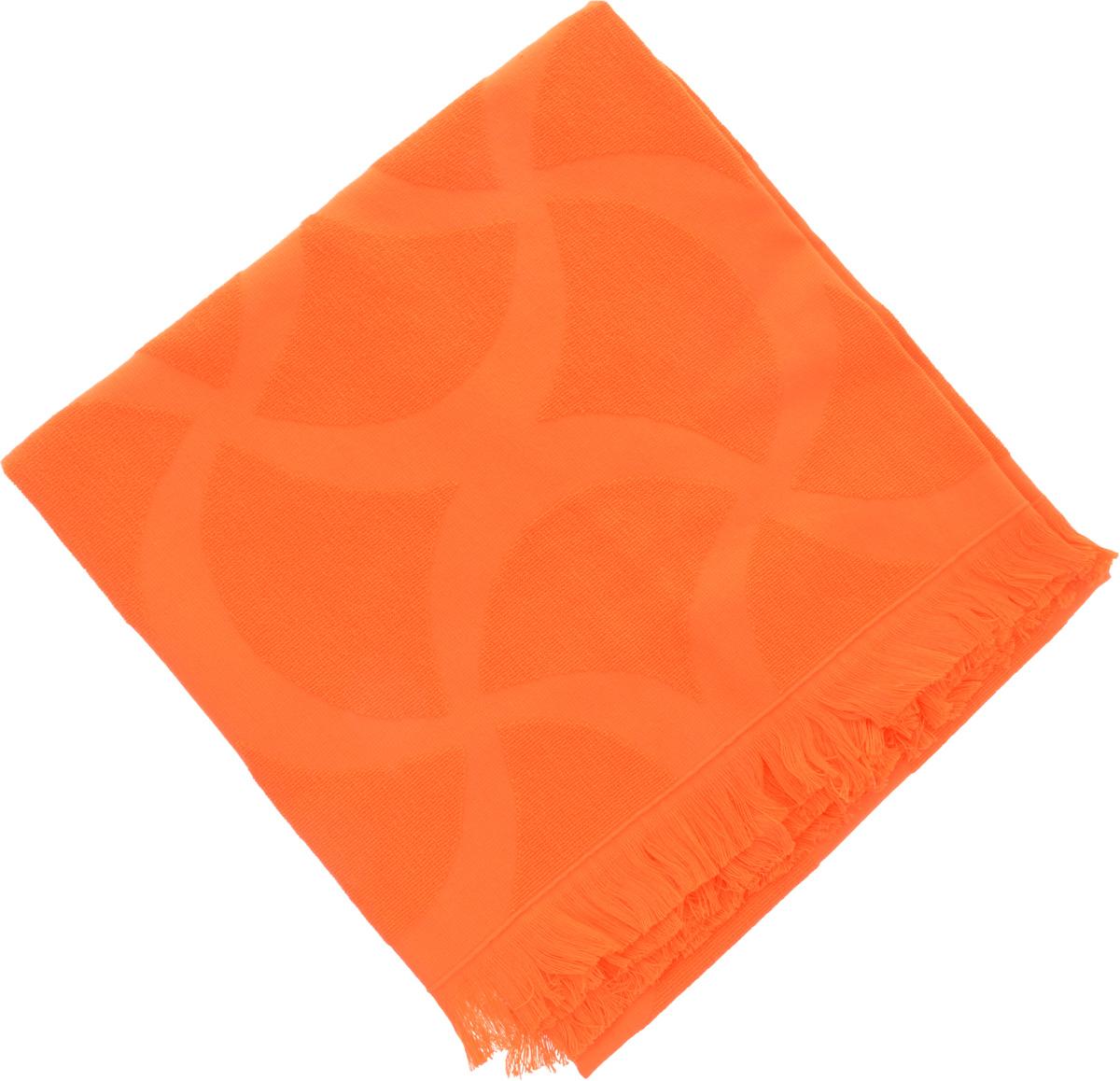 Полотенце Issimo Home Rondelle, цвет: оранжевый, 70 x 140 см1004900000360Полотенце Issimo Home Rondelle выполнено из 100% хлопка. Изделие отлично впитывает влагу, быстро сохнет, сохраняет яркость цвета и не теряет форму даже после многократных стирок. Полотенце очень практично и неприхотливо в уходе. Такое полотенце прекрасно дополнит интерьер ванной комнаты.