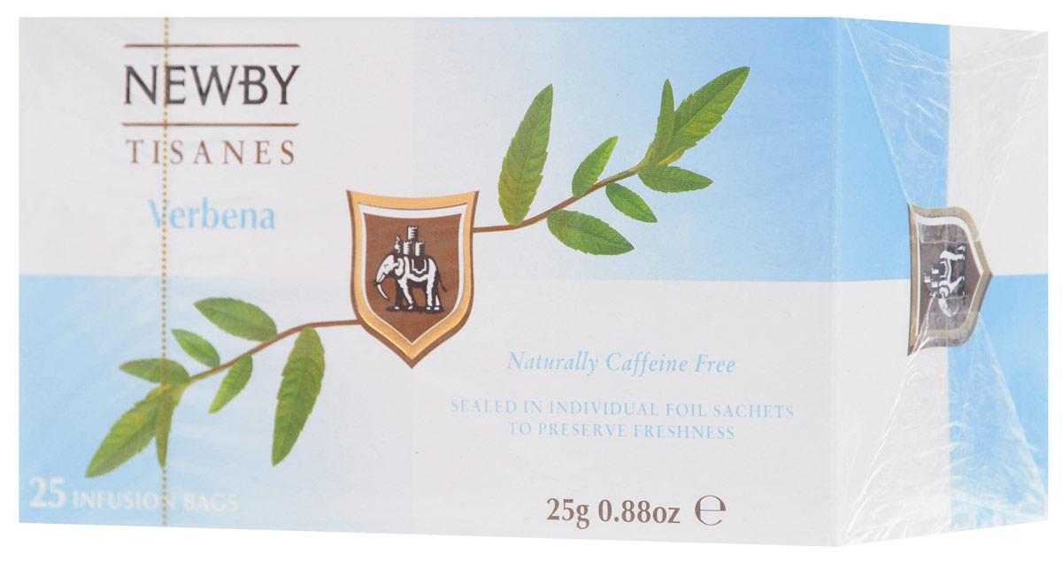 Newby Verbena травяной чай в пакетиках, 25 шт0120710Травяной напиток Newby из листьев вербены с освежающим цитрусовым привкусом и освежающим послевкусием.