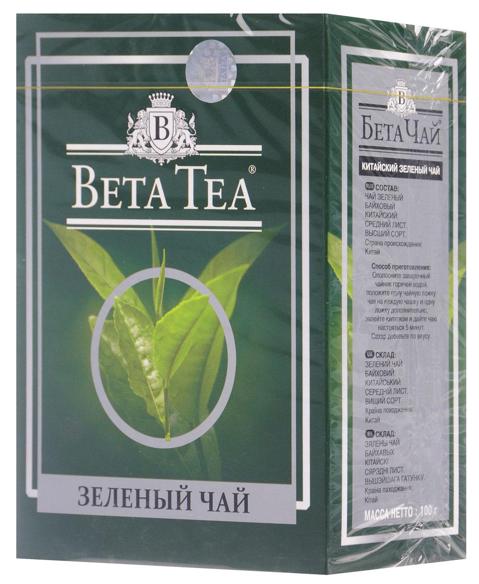 Beta Tea зеленый листовой чай, 100 г101246Благодаря своим целебным свойствам зеленый чай Beta Tea занимает особое место в ассортименте компании. Основная задача при производстве этого сортасостоит в том, чтобы сохранить лечебные природные биологически активные вещества свежих листьев таким образом, чтобы они смогли высвободиться во время заваривания.