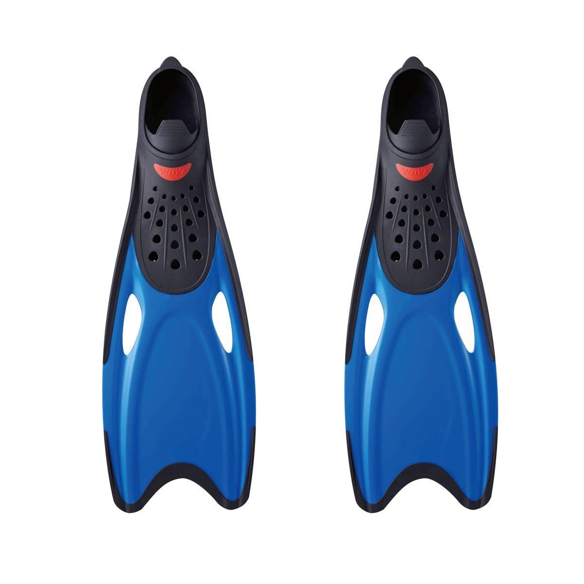 Ласты для плавания WAVE, цвет: синий. Размер 42-43. F-68718-10818B353-B353Ласты для плавания WAVE- профессиональная линия ласт для плаванияЛасты с закрытой пяткой:эластичные лопасти в форме хвоста рыбы обеспечивают отличную эффективность гребкаДренажные отверстия обеспечивают пространственную стабилизацию и уменьшают сопротивлениеОртопедическая форма калоши обеспечивает дополнительный комфорт для любой ногиВыполнены из высококачественного термопластичного эластомера (ТРЕ)Срок службы гораздо дольше чем у резиныРазмер: XL (42-43) Размер: 560 x 190 x 75 мм