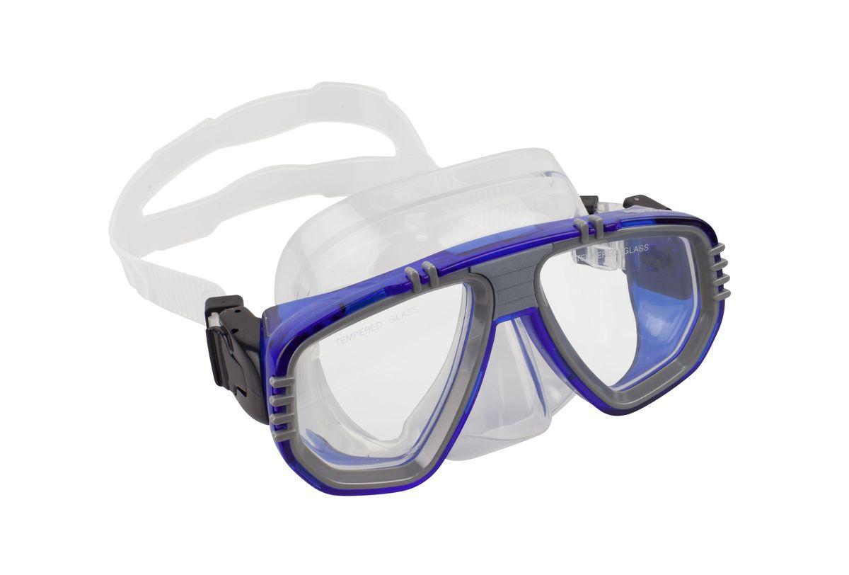 Маска для плавания WAVE, цвет: синий. M-1313M-1313_нМаска для плавания WAVE имеет низкопрофильный дизайн и широкий угол обзора практически на 180 градусов (увеличение периферического зрения)Линзы из закаленного стеклаДвухслойный обтюратор маски из гипоалергенного мягкого пластика, препятствует проникновению воды внутрь маскиРегулируемый пластиковый ремешок, препятствует скольжениюМатериал: пластик (PVC) Ширина оправы маски: 17 x 8 x 10,5 см