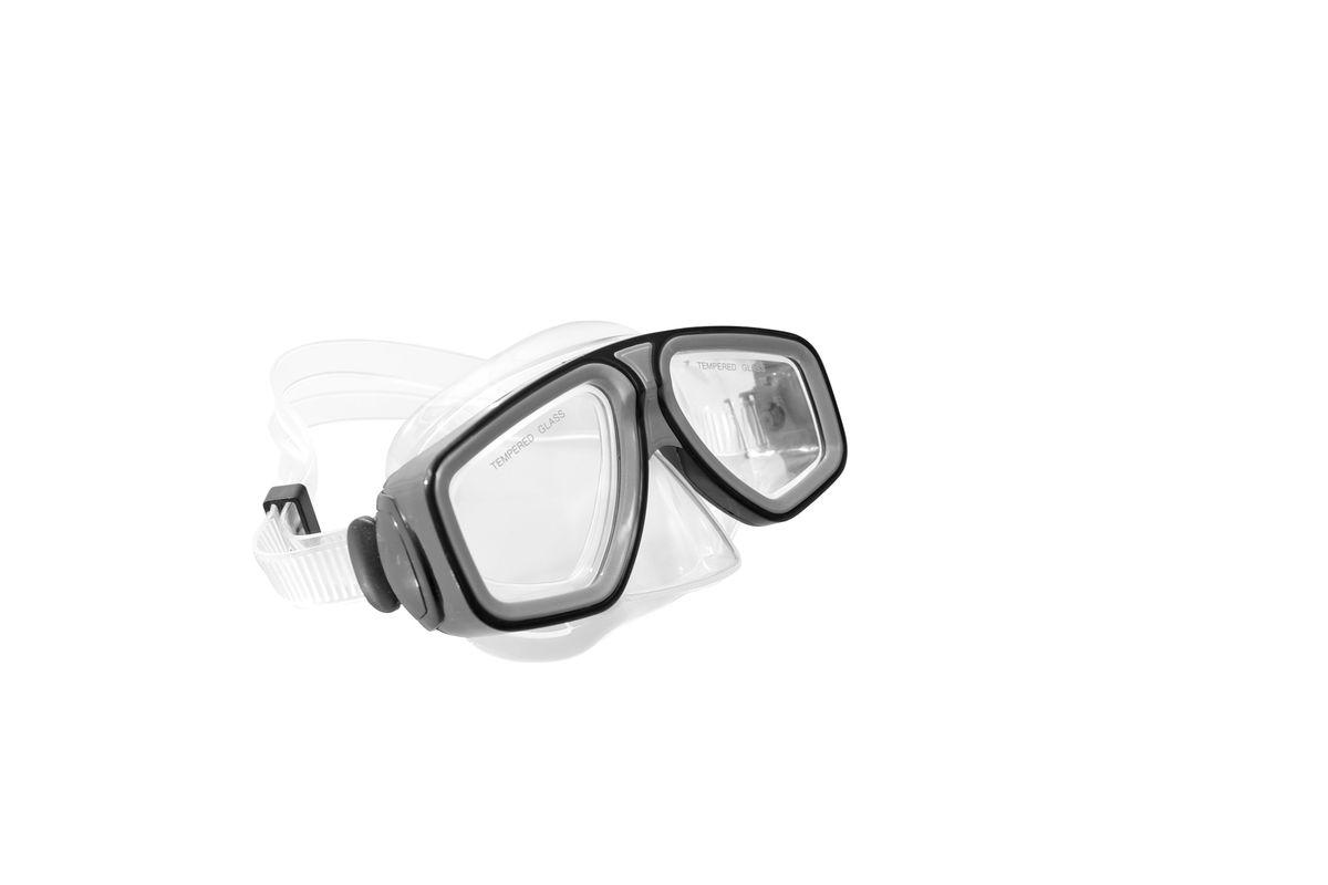 Маска для плавания WAVE, цвет: черный. M-13148-10818B353-B353Маска для плавания WAVE имеет низкопрофильный дизайн и широкий угол обзора практически на 180 градусов (увеличение периферического зрения)Линзы из закаленного стеклаДвухслойный обтюратор маски из гипоалергенного мягкого пластика, препятствует проникновению воды внутрь маскиРегулируемый пластиковый ремешок, препятствует скольжениюМатериал: пластик (PVC) Ширина оправы маски: 15,4 x 7,5 x 9 см
