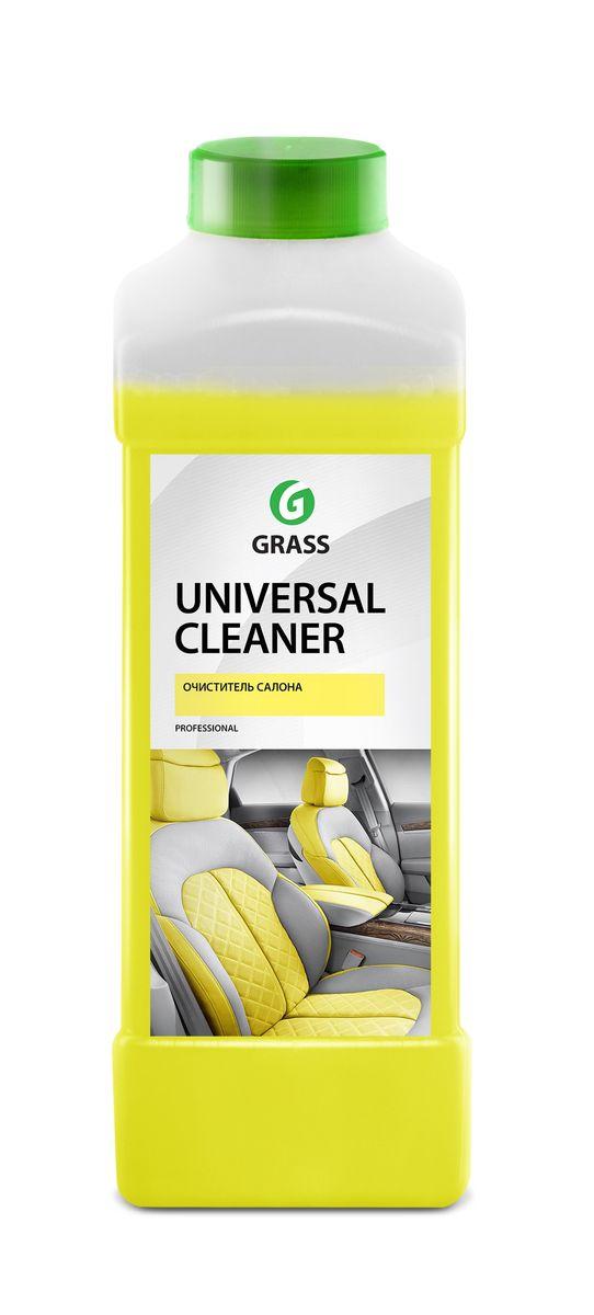Очиститель салона Grass Universal Cleaner, 1 л150902Очиститель Grass Universal Cleaner имеет универсальный моющий состав для очистки салона автомобиля от любых загрязнений. Подходит для чистки любых видов ткани, искусственной кожи, пластика. Разводится с водой из расчета 50-100 г/л.Товар сертифицирован.