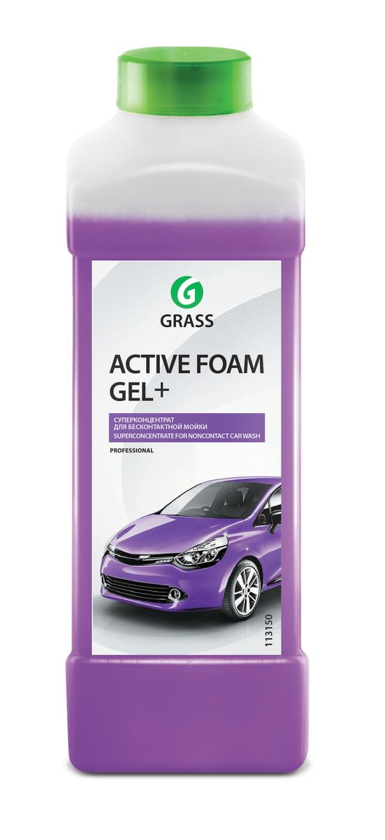 Активная пена Grass Active Foam Gel+, 1 лRC-100BPCАктивная пена Grass Active Foam Gel+ предназначена для бесконтактной мойки легкового и грузового автотранспорта. Хорошо пенится и легко смывается с поверхности. Удаляет дорожную грязь, пыль, масло, следы насекомых. Суперконцентрированная формула позволяет отмыть в 3 раза больше грязи. Перед нанесением средство необходимо разбавить с теплой водой из расчета 1:80-1:250 (4-25 г/л) для пеногенератора (25, 50, 100 л) или 1:6-1:12 (80-150 г) в пенокомплект (1 л). Товар сертифицирован.