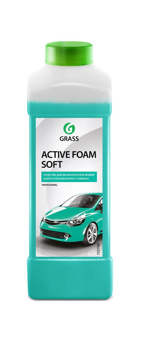 Активная пена Grass Active Foam Soft, 1 лRC-100BWCАктивная пена Grass Active Foam Soft - это концентрированное средство для беcконтактной мойки легкового и грузового транспорта. Не наносит вреда алюминиевым, никелированным поверхностям и другим покрытиям из сплавов цветных металлов. Содержит антикоррозионные добавки. Перед нанесением средство необходимо разбавить с водой из расчета 1:30-1:50 (20-30 г/л) для пеногенератора (25, 50, 100 л) или 1:1-1:4 (200-500 г) в пенокомплект (1 л). Товар сертифицирован.