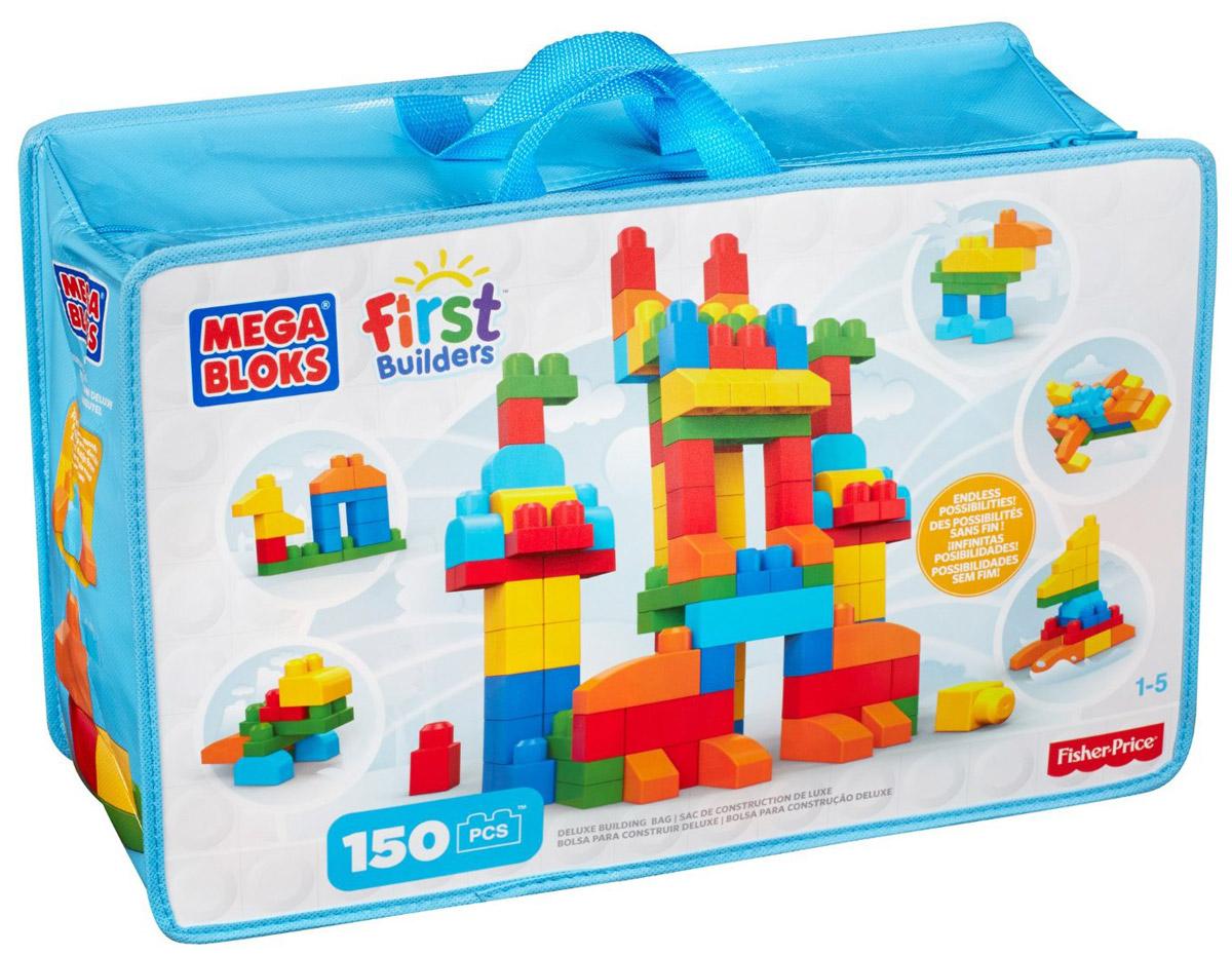 """Постройте и исследуйте множество конструкций с набором от Mega Bloks: First Builders """"Делюкс"""" Из кубиков классических цветов вы можете строить высокие башни, невероятные замки, забавных существ и все, что ваш ребенок пожелает. Его яркие разноцветные блоки постоянно подталкивают детей к новым экспериментам, развивая у них воображение и творческое мышление. Крупные блоки отлично подходят для маленьких пальчиков. После игры все детали можно убрать в удобную сумку на застежке-молнии! Конструктор предназначен специально для самых маленьких строителей. Играя с конструктором, малыш отлично разовьет мелкую моторику рук, координацию движений, усидчивость, воображение и фантазию, пространственное мышление, а также познакомится с такими понятиями, как цвет, форма и размер предмета."""