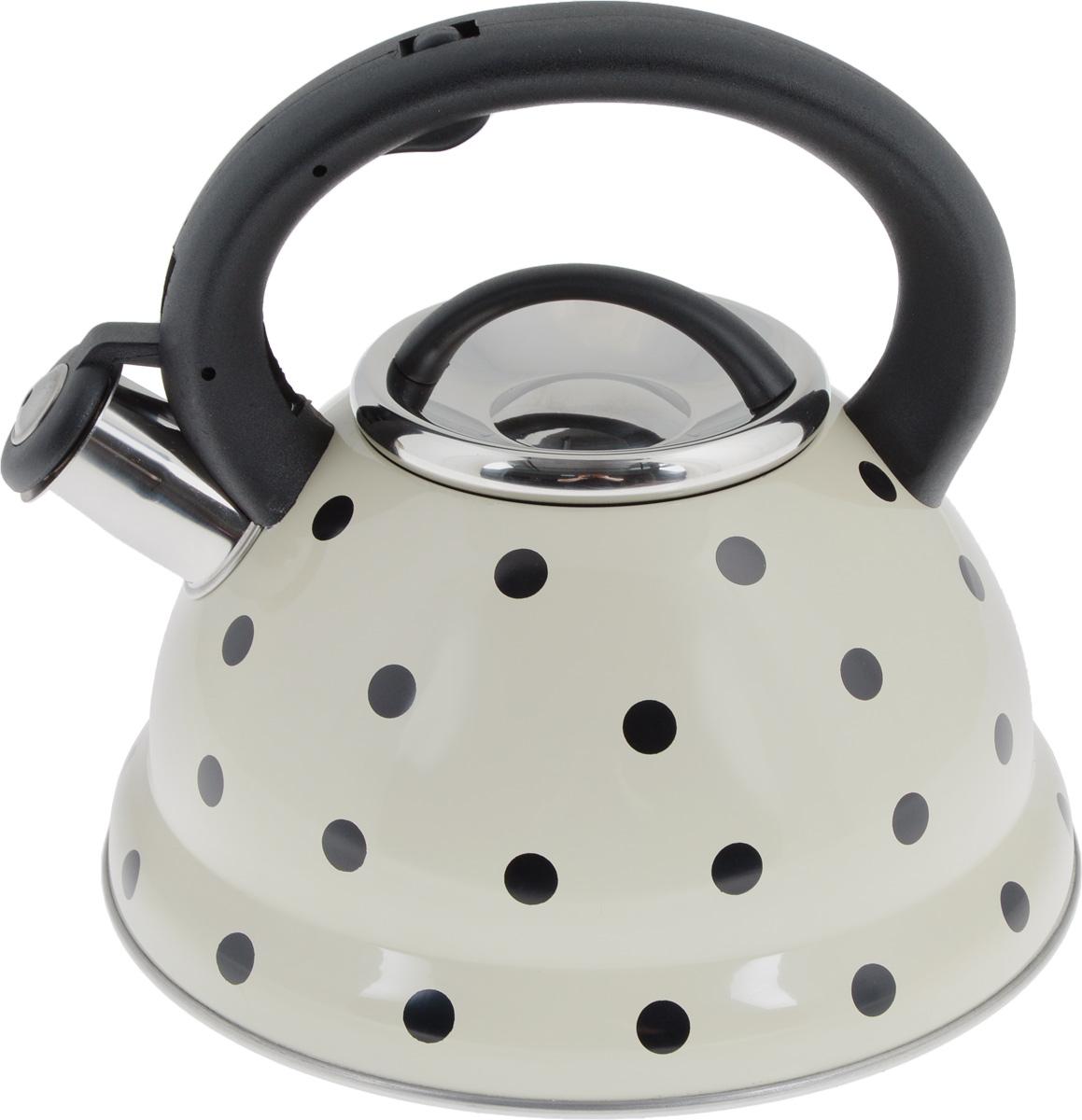 Чайник Mayer & Boch, со свистком, 2,8 л. 2497224972Чайник Mayer & Boch выполнен из высококачественной нержавеющей стали, что обеспечивает долговечность посуде. Фиксированная ручка из пластика снабженамеханизмом для открывания носика, делая использование чайника очень удобным и безопасным. Носик оснащен свистком, что позволит вам контролировать процесс подогрева или кипячения воды. Капсулированное дно с прослойкой из алюминия равномерно распределяет тепло. Эстетичный и функциональный, с эксклюзивным дизайном, чайник будет оригинально смотреться в любом интерьере. Подходит для использования на газовых, электрических, стеклокерамических и галогеновых плитах, кроме индукционных. Можно мыть в посудомоечной машине. Высота чайника (без учета ручки и крышки): 11,5 см.Высота чайника (с учетом ручки и крышки): 20,5 см.Диаметр чайника (по верхнему краю): 10 см.