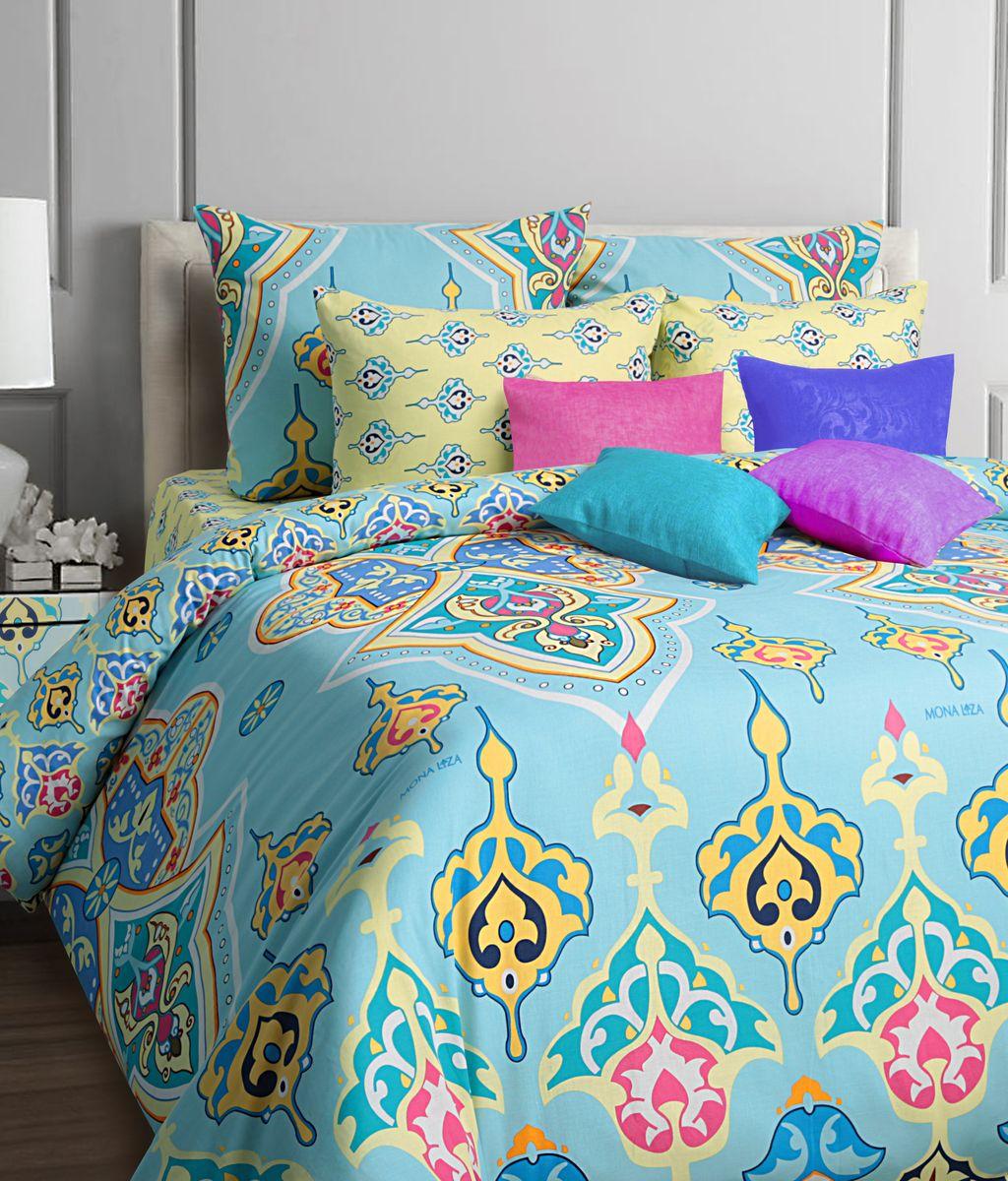 Комплект белья Mona Liza Arabic, 1,5-спальное, наволочки 70x70391602Комплект постельного белья Mona Liza Arabic, выполненный из бязи (100% хлопок), состоит из пододеяльника, простыни и двух наволочек. Изделия оформлены благородным орнаментом.Пододеяльник на пуговицах.Бязь - ткань полотняного переплетения с незначительной сминаемостью, хорошо сохраняющая цвет при стирке, легкая, с прекрасными гигиеническими показателями. Такой комплект подойдет для любого стилевого и цветового решения интерьера, а также создаст в доме уют.