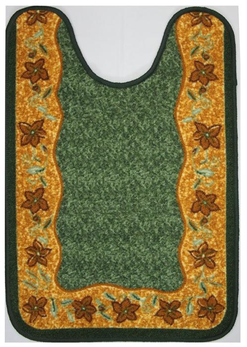 Коврик для ванной MAC Carpet Розетта, цвет: зеленый, 57 х 80 смS03301004Коврики из нейлона на резиновой основе с успехом применяются в ванных комнатах ,где необходима защита от влаги.Нейлон обеспечивает повышенную износостойкость и простоту в уходе.