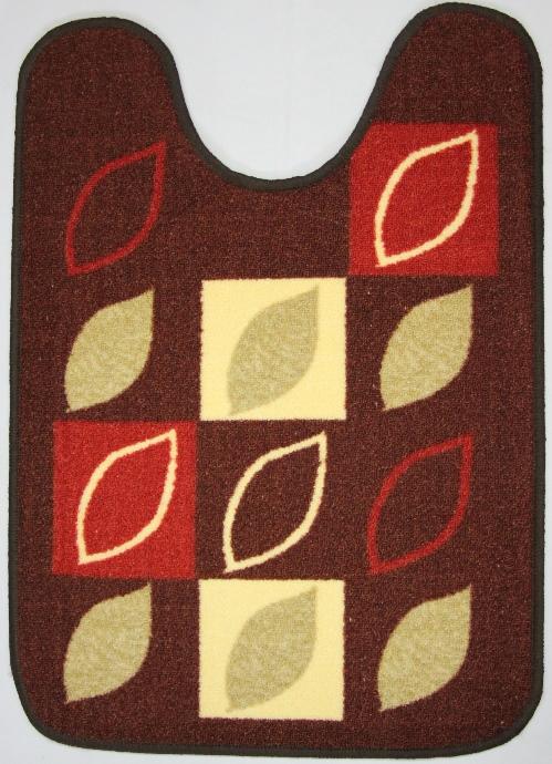 Коврик для ванной MAC Carpet Розетта, цвет: коричневый, 57 х 80 см41619Коврик MAC Carpet Розетта, выполненный из нейлона на резиновой основе, с успехом может применяться в ванных комнатах. Нейлон обеспечивает повышенную износостойкость и простоту в уходе.Коврик Розетта - это прекрасное решение для ванной комнаты.