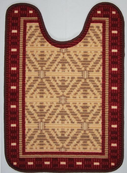 Коврик для ванной MAC Carpet Розетта, цвет: красный, 57 х 80 см68/5/3Коврик MAC Carpet Розетта, выполненный из нейлона на резиновой основе, с успехом может применяться в ванных комнатах. Нейлон обеспечивает повышенную износостойкость и простоту в уходе.Коврик Розетта - это прекрасное решение для ванной комнаты.