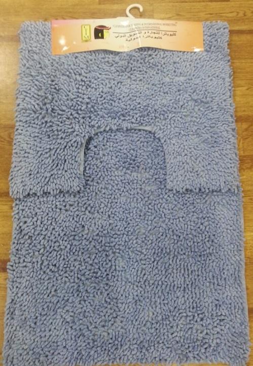 Набор ковриков для ванной Shee Sai International, цвет: голубой, 60 х 90 см + 60 х 50 смRG-D31SИзготовленные из натурального индийского хлопка,легко стираются,мягкие и приятные на ощупь.