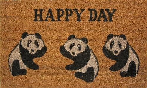 Коврик придверный Кокос. Панда, цвет: черный, 45 х 75 смU210DFЭкологически чистое кокосовое волокно обладает природной прочностью,устойчивостью к истиранию и долговечностью,поэтому с успехом применяется в изготовлении придверных ковриков.
