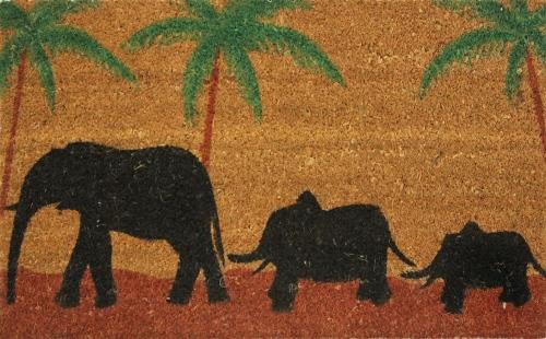 Коврик придверный Кокос. Слон, цвет: черный, 45 х 75 смA3964LM-8WHОригинальный придверный коврик Кокос. Слон надежно защитит помещение от уличной пыли и грязи. Изделие выполнено из кокосового волокна. Этот экологически чистый материал обладает природной прочностью, устойчивостью к истиранию и долговечностью,поэтому с успехом применяется в изготовлении придверных ковриков.Такой коврик сохранит привлекательный внешний вид на долгое время.