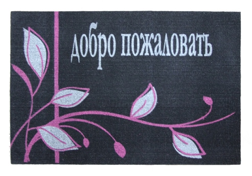 Коврик придверный Efco Нью Эден, цвет: черный, 40 х 60 см