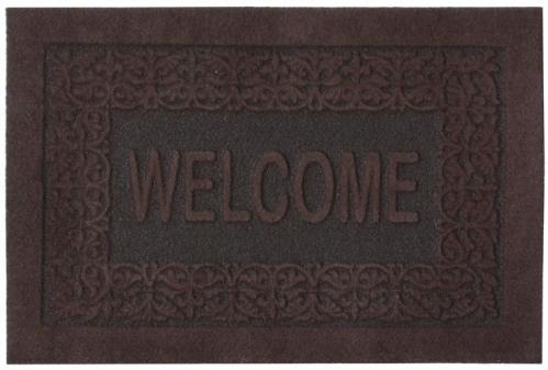 Коврик придверный EFCO Оскар, цвет: коричневый, 40 х 60 смES-412Оригинальный придверный коврик EFCO Оскар надежно защитит помещение от уличной пыли и грязи. Изделие выполнено из 100% полипропилена, основа - латекс. Такой коврик сохранит привлекательный внешний вид на долгое время, а благодаря латексной основе, он легко чистится и моется.