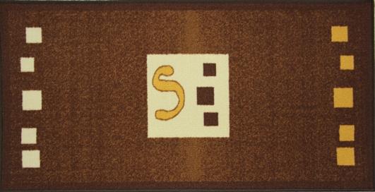 Коврик для ванной MAC Carpet Розетта, цвет: коричневый, 57 х 115 смSWMS-6010Коврики из нейлона на резиновой основе с успехом могут применяться как в ванных комнатах ,так и во всех других помещениях,где необходима защита от влаги.Нейлон обеспечивает повышенную износостойкость и простоту в уходе.