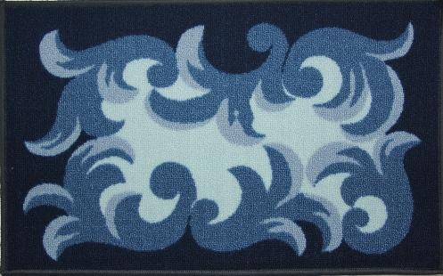 Коврик для ванной MAC Carpet Розетта, цвет: синий, 44 х 70 см391602Коврик MAC Carpet Розетта, выполненный из нейлона на резиновой основе, с успехом может применяться в ванных комнатах. Нейлон обеспечивает повышенную износостойкость и простоту в уходе.Коврик Розетта - это прекрасное решение для ванной комнаты.