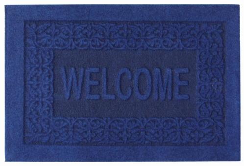 Коврик придверный EFCO Оскар, цвет: синий, 40 х 60 смES-412Оригинальный придверный коврик EFCO Оскар надежно защитит помещение от уличной пыли и грязи. Изделие выполнено из 100% полипропилена, основа - латекс. Такой коврик сохранит привлекательный внешний вид на долгое время, а благодаря латексной основе, он легко чистится и моется.