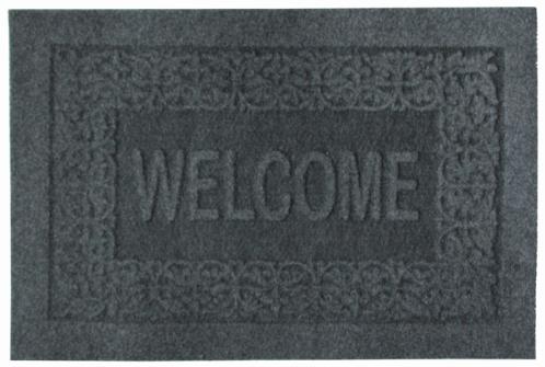 Коврик придверный EFCO Оскар, цвет: серый, 40 х 60 см17102023Оригинальный придверный коврик EFCO Оскар надежно защитит помещение от уличной пыли и грязи. Изделие выполнено из 100% полипропилена, основа - латекс. Такой коврик сохранит привлекательный внешний вид на долгое время, а благодаря латексной основе, он легко чистится и моется.