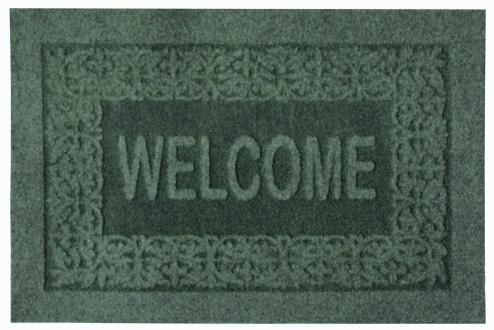 Коврик придверный EFCO Оскар, цвет: зеленый, 40 х 60 смPR-2WОригинальный придверный коврик EFCO Оскар надежно защитит помещение от уличной пыли и грязи. Изделие выполнено из 100% полипропилена, основа - латекс. Такой коврик сохранит привлекательный внешний вид на долгое время, а благодаря латексной основе, он легко чистится и моется.