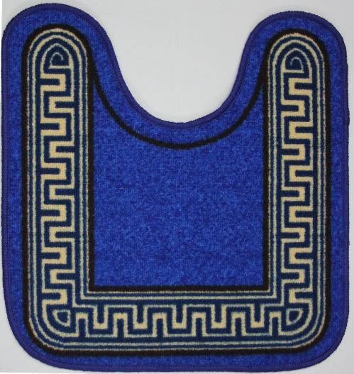 Коврик для ванной MAC Carpet Розетта. Версаче, цвет: синий, 57 х 60 смa030041Коврики из нейлона на резиновой основе с успехом применяются в ванных комнатах ,где необходима защита от влаги.Нейлон обеспечивает повышенную износостойкость и простоту в уходе.