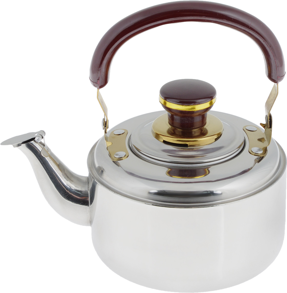 Чайник заварочный Mayer & Boch, со свистком, с фильтром, 1 л. 40054 009312Заварочный чайник Mayer & Boch выполнен из высококачественной нержавеющей стали, что обеспечивает долговечность использования. Внешнее зеркальное покрытие придает приятный внешний вид. Бакелитовая ручка делает использование чайника очень удобным и безопасным. Крышка оснащена свистком, что позволит вамконтролировать процесс подогреваили кипячения воды. Чайник оснащен фильтром, с помощью которого можно заваривать ваш любимый чай.Можно мыть в посудомоечной машине. Пригоден для газовых, электрических и стеклокерамических плит, кроме индукционных. Диаметр чайника по верхнему краю: 7 см. Высота чайника (без учета крышки и ручки): 8,5 см. Высота чайника (с учетом крышки и ручки): 18 см. Размер фильтра: 7,5 х 7,5 х 5,5 см.