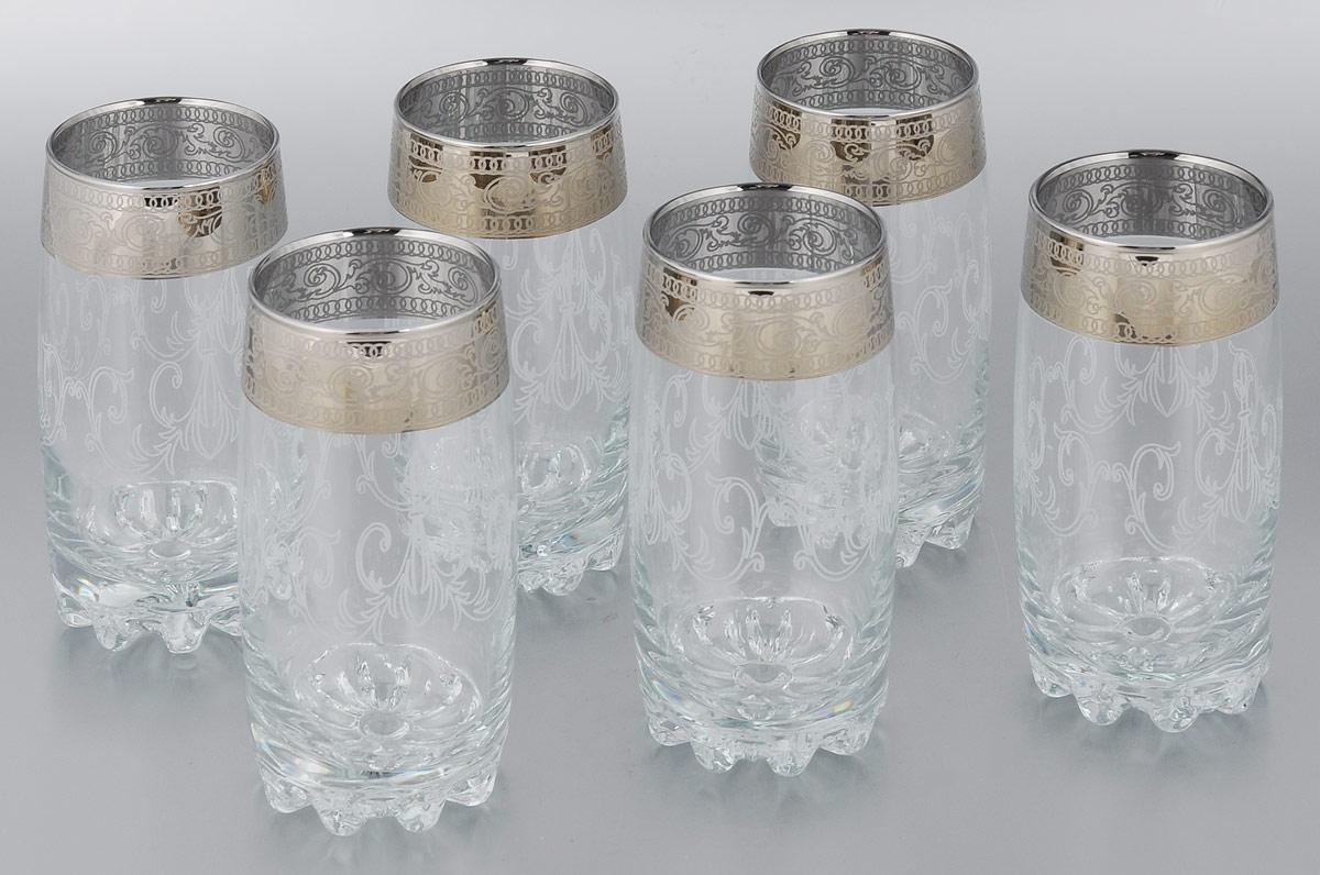 Набор стаканов для коктейлей Мусатов Венеция, 390 мл, 6 штVT-1520(SR)Набор Мусатов Венеция состоит из 6 стаканов для коктейлей, изготовленных из высококачественного натрий-кальций-силикатного стекла. Изделия оформлены красивой окантовкой. Такой набор прекрасно дополнит праздничный стол и станет желанным подарком в любом доме. Разрешается мыть в посудомоечной машине. Диаметр стакана (по верхнему краю): 6 см. Высота стакана: 14,5 см.