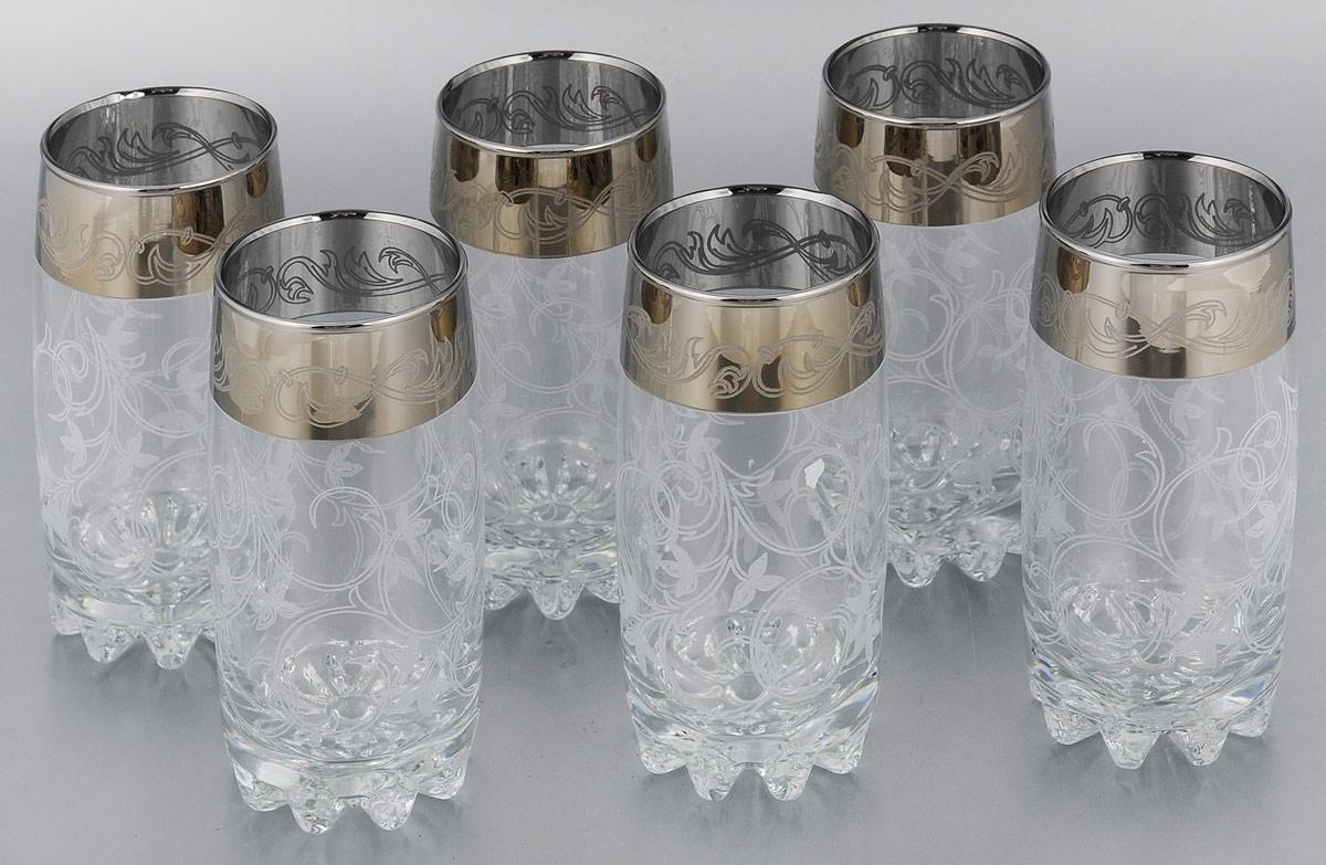 Набор стаканов для коктейлей Мусатов Шарм, 390 мл, 6 штVT-1520(SR)Набор Мусатов Шарм состоит из 6 стаканов для коктейлей, изготовленных из высококачественного натрий-кальций-силикатного стекла. Изделия оформлены красивой окантовкой. Такой набор прекрасно дополнит праздничный стол и станет желанным подарком в любом доме. Разрешается мыть в посудомоечной машине. Диаметр стакана (по верхнему краю): 6 см. Высота стакана: 14,5 см.