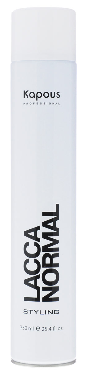 Kapous Professional Лак аэрозольный для волос нормальной фиксации 750 млKap581Лак аэрозольный для волос нормальной фиксации Kapous.Экологический лак для волос нормальной фиксации гарантирует естественную фиксацию, надежно фиксируя сложные, объемные прически.Идеально подходит для создания подвижной и элестичной укладки вне зависимости от факторов окружающей среды.Благодаря уникальной формуле лак абсолютно сухой и не образует пленки на волосах.УФ-фильтр защищает волосы от вредного влияния окружающей среды.Удаляется с волос несколькими взмахами расчески.Экологичное мелкодисперсное распыление.Результат: Быстро высыхает на волосах, прекрасно фиксирует их и придает здоровый блеск.