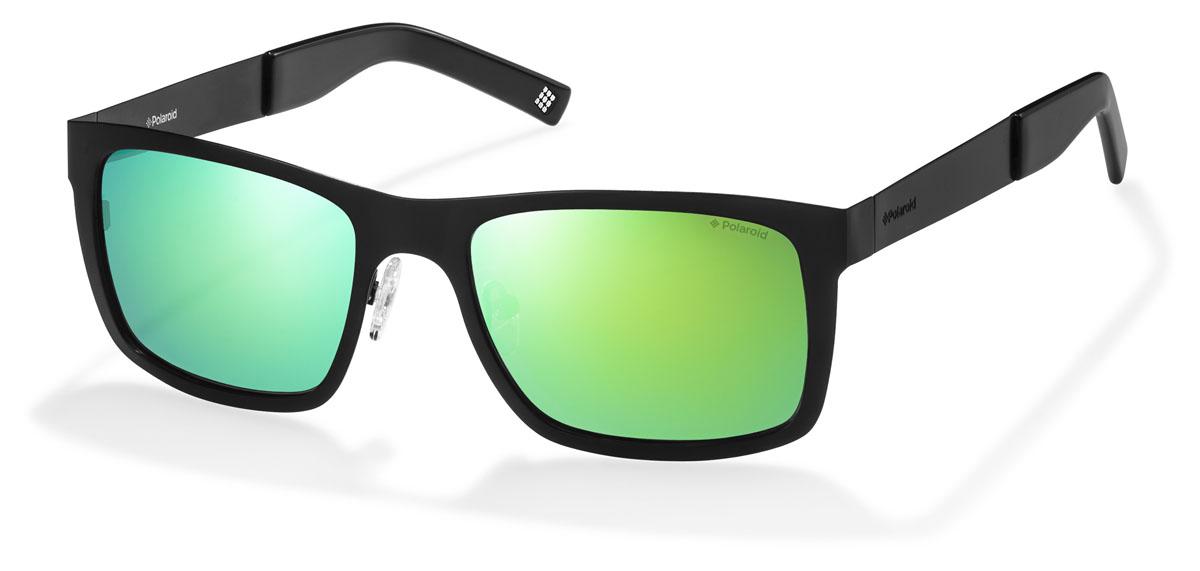 Очки поляризационные Polaroid, цвет: черный, зеленый. PLD6001.S.003.K7BM8434-58AEПри отражении солнечного света от горизонтальной поверхности – такой, как дорога или вода – часто получается сконцентрированный горизонтально поляризованный свет. Такое явление называется блик. Вертикально поляризованный свет полезен для человеческого глаза. Блики же могут существенно влиять на зрение: ослепляют, ухудшают зрение, снижают его остроту и вызывают раздражение. Поляризованные солнцезащитные очки Polaroid блокируют блики и обеспечивают защиту от ультрафиолета, благодаря им вы сможете видеть лучше и в то же время защищать глаза от вредного излучения.В них используются эксклюзивные линзы UltraSight™, произведенные с использованием инновационной технологии Thermofusion™. Эти высококачественные линзы состоят из девяти слоев для обеспечения полной защиты ваших глаз и возможности видеть все без искажений. Кроме того, это эффектный аксессуар, который наверняка станет изюминкой  вашего индивидуального стиля. Оправа не только красивая, но и прочная, а линзы со временем не покроются мелкими царапинами. Изделие поставляется в фирменном жестком футляре на застежке-молнии и комплектуется мягкой салфеткой. Чистка и обслуживание:Вымыть теплой водой, вытереть мягкой сухой салфеткой. Условия хранения: в футляре при нормальных климатических условиях.Предупреждение:Не использовать в солярии, не смотреть на прямые солнечные лучи, не использовать при управлении автомобилем в сумерках и ночью.