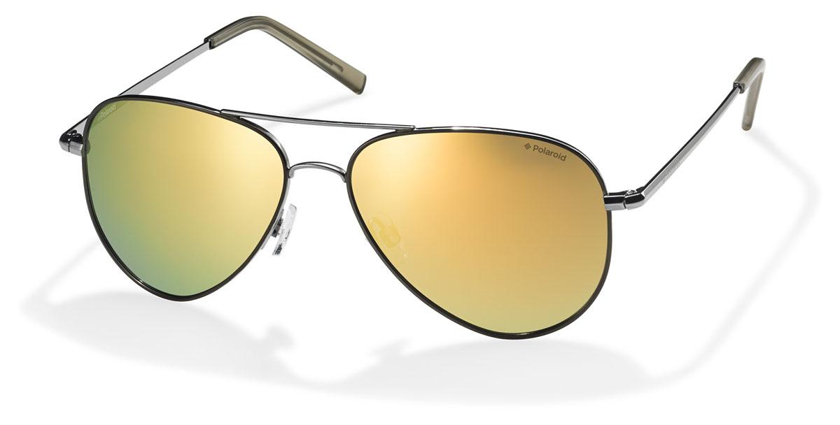 Очки поляризационные Polaroid, цвет: желтый, золотой. PLD6012.S.QUH.LMBM8434-58AEПоляризационные солнцезащитные очки Polaroid обеспечивают видение без бликов, 100%-ую защиту от ультрафиолетового излучения, естественные цвета, чистые контрасты и снижение усталости глаз. Все линзы обладают ударопрочными свойствами и стойкостью к царапинам для защиты Ваших глаз. Очки Polaroid - лучшие солнцезащитные очки с поляризационными линзами по доступным ценам.