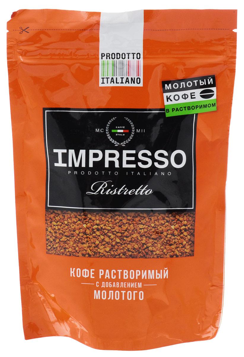 Impresso Ristretto кофе растворимый, 100 г0120710Impresso Ristretto - это высококачественная смесь молотого и растворимого кофе из лучшей арабики Бразилии, Никарагуа и Мексики с крепким ,насыщенным вкусом.