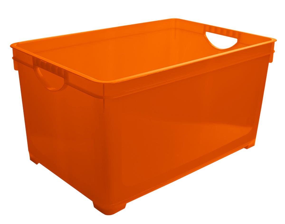 Ящик для хранения BranQ, цвет: оранжевый, 5 лZ-0307Универсальный ящик для хранения BranQ, выполненный из прочного цветного пластика, поможет правильно организовать пространство в доме и сэкономить место. В нем можно хранить все, что угодно: одежду, обувь, детские игрушки и многое другое. Прочный каркас ящика позволит хранить как легкие вещи, так и переносить собранный урожай овощей или фруктов. Ящик оснащен двумя ручками для удобной транспортировки.