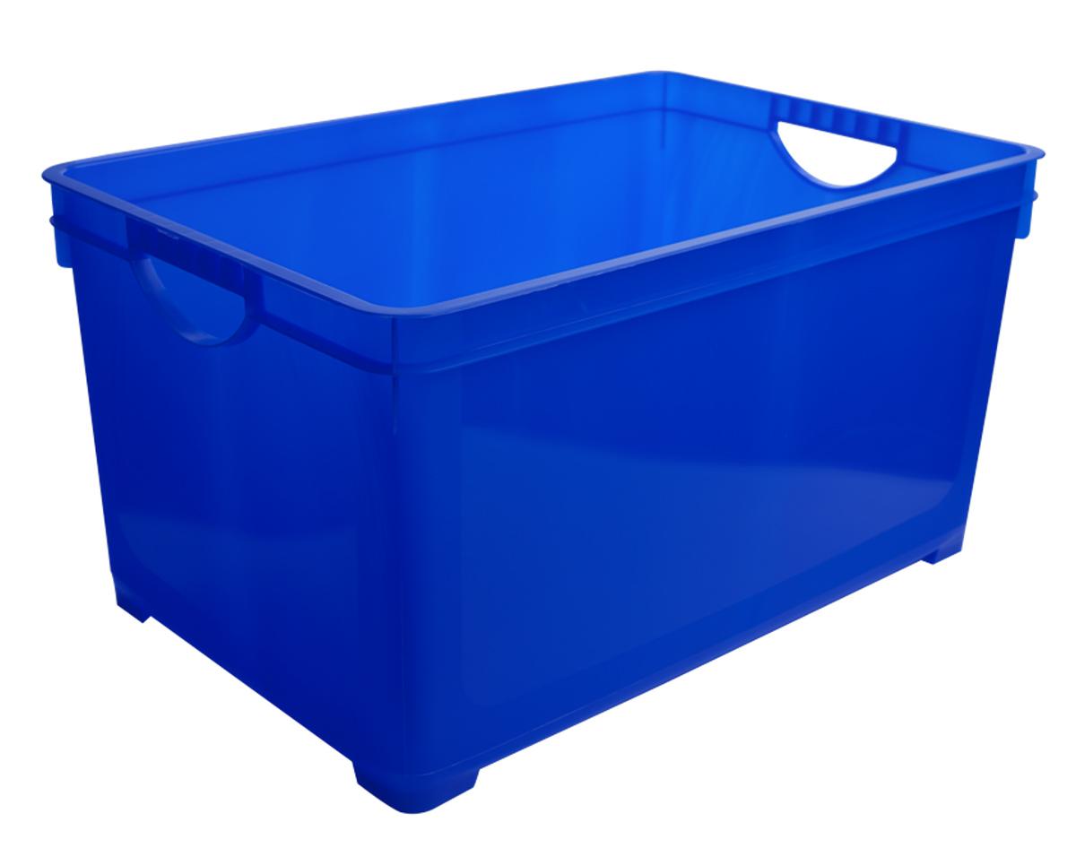 Ящик для хранения BranQ, цвет: синий, 5 лS03301004Универсальный ящик для хранения BranQ, выполненный из прочного цветного пластика, поможет правильно организовать пространство в доме и сэкономить место. В нем можно хранить все, что угодно: одежду, обувь, детские игрушки и многое другое. Прочный каркас ящика позволит хранить как легкие вещи, так и переносить собранный урожай овощей или фруктов. Ящик оснащен двумя ручками для удобной транспортировки.