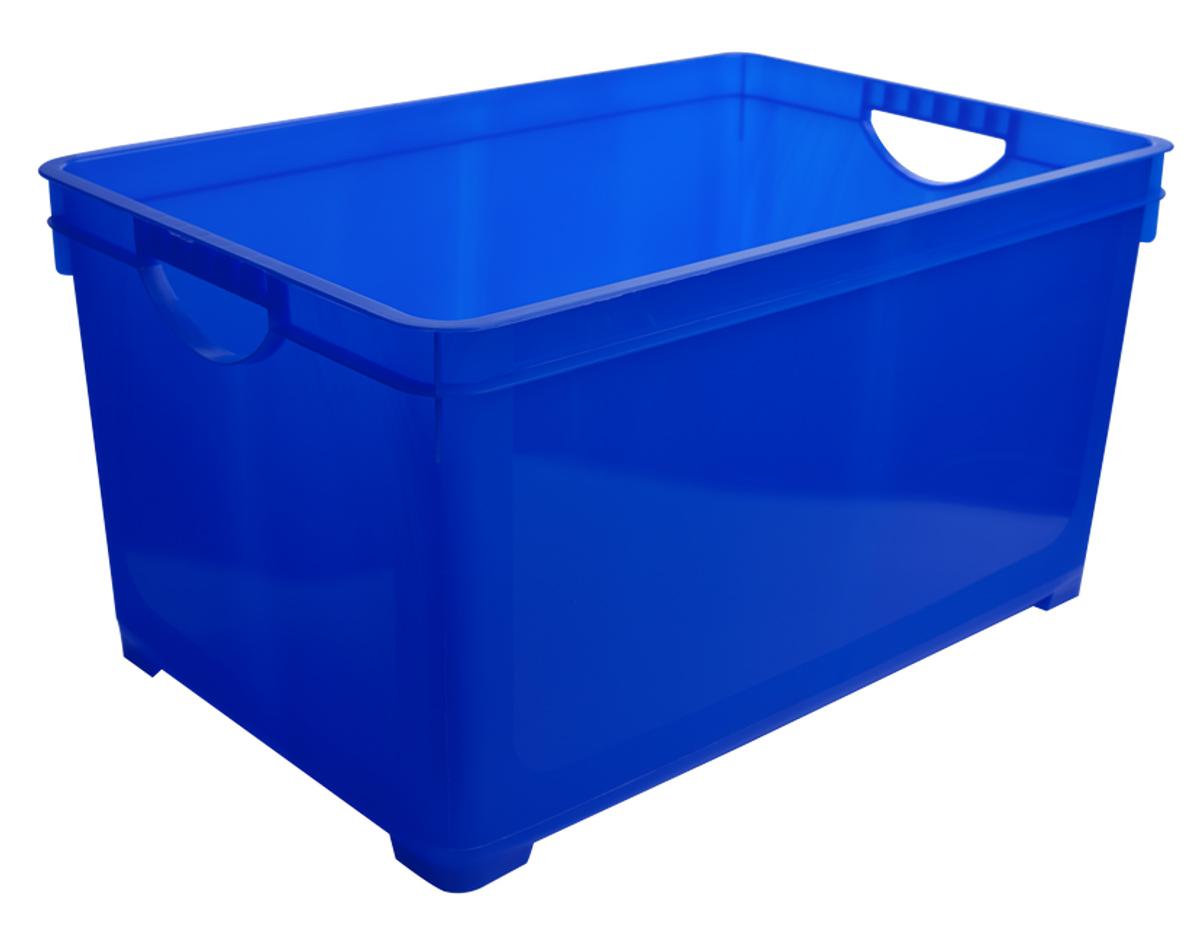 Ящик для хранения BranQ, цвет: синий, 19 л1004900000360Универсальный ящик для хранения BranQ, выполненный из прочного цветного пластика, поможет правильно организовать пространство в доме и сэкономить место. В нем можно хранить все, что угодно: одежду, обувь, детские игрушки и многое другое. Прочный каркас ящика позволит хранить как легкие вещи, так и переносить собранный урожай овощей или фруктов. Ящик оснащен двумя ручками для удобной транспортировки.